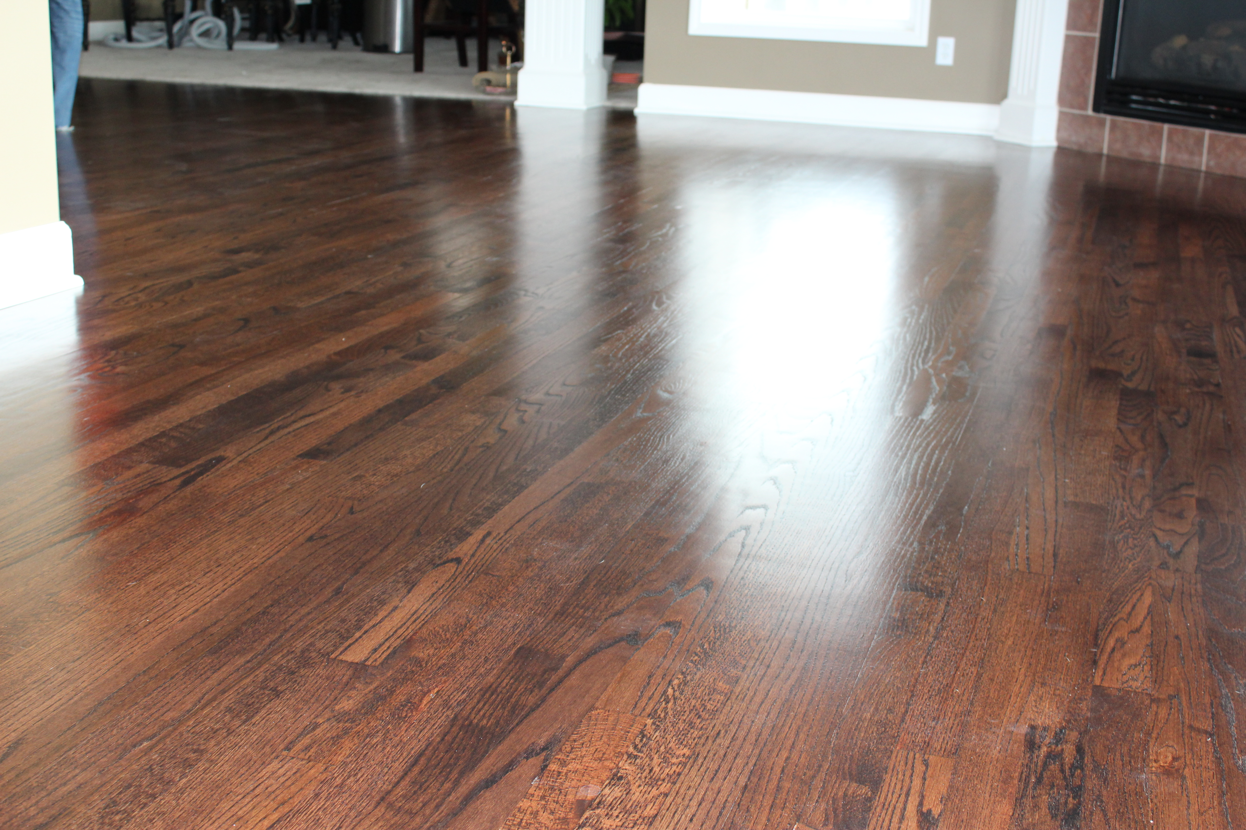 Mahogany hardwood floor lee s summit mo rippnfinish for Missouri hardwood flooring